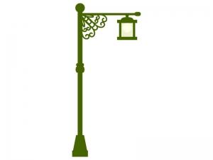 アンティークな街灯のイラスト02