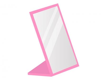 折りたたみの美容鏡のイラスト