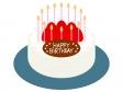 いちごのバースデーケーキのイラスト02