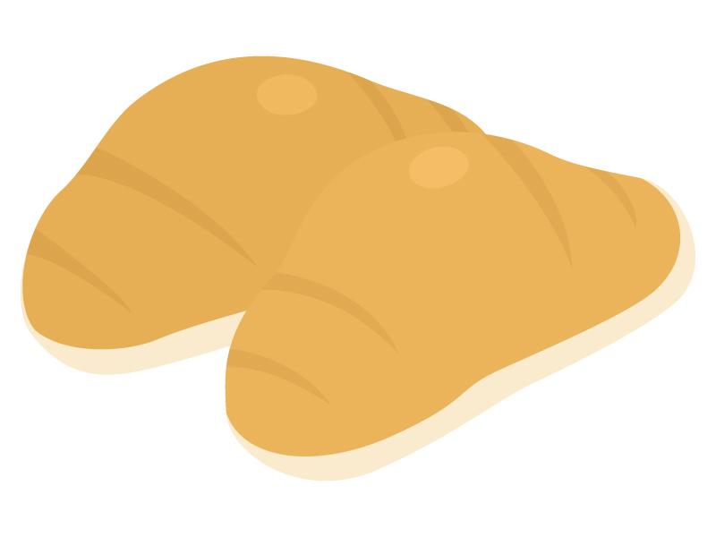 ロールパン(バターロール)のイラスト