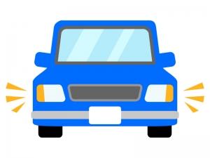 ハザードランプをつけている車のイラスト02