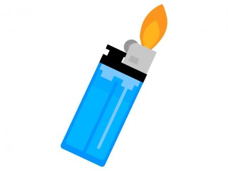 着火したライターのイラスト
