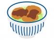 ソースカツ丼のイラスト