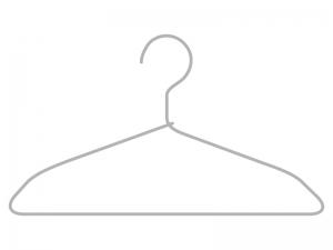 針金のハンガーのイラスト