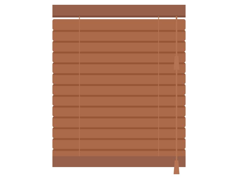 木製のブラインドのイラスト