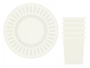 紙コップと紙皿のイラスト