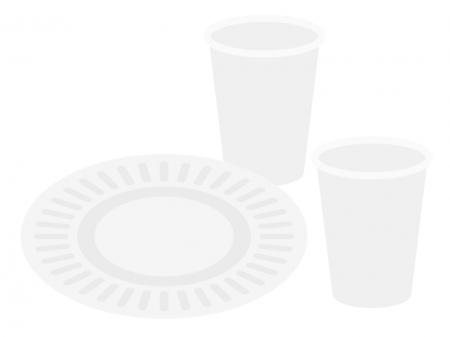 紙コップと紙皿のイラスト02