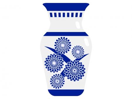 骨董品・壺のイラスト