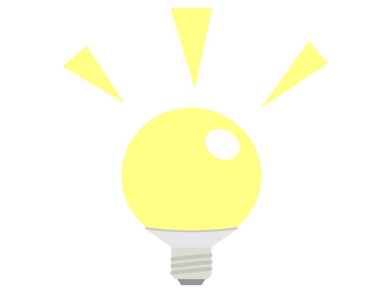 点灯しているLED電球・ライトのイラスト02