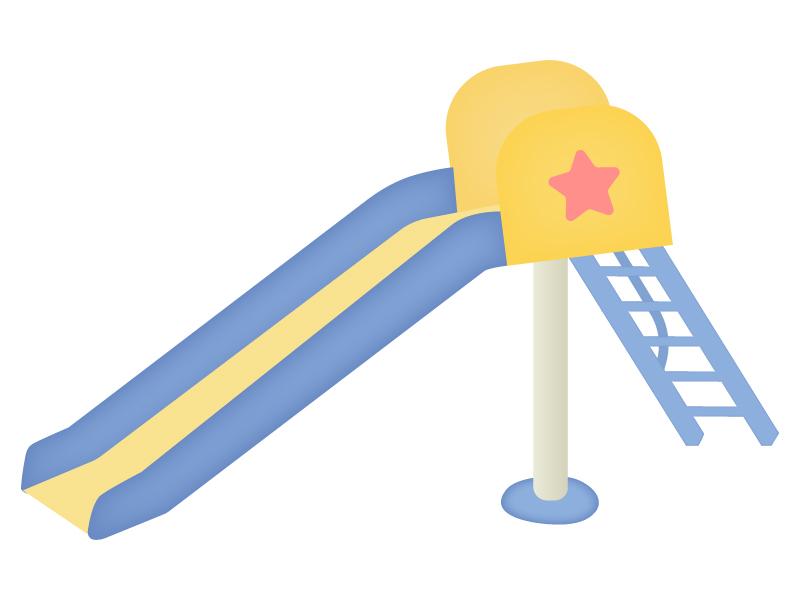 滑り台のイラスト04