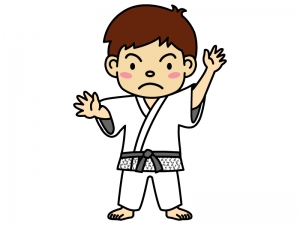 柔道選手のイラスト