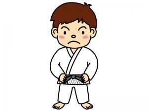 柔道選手のイラスト02