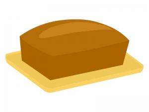 パウンドケーキのイラスト