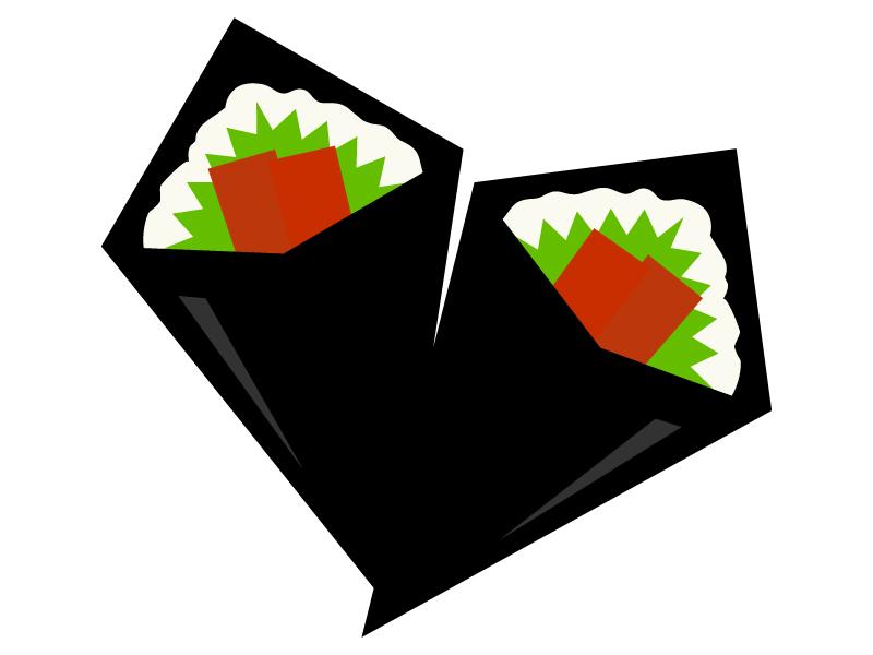 手巻き寿司のイラスト
