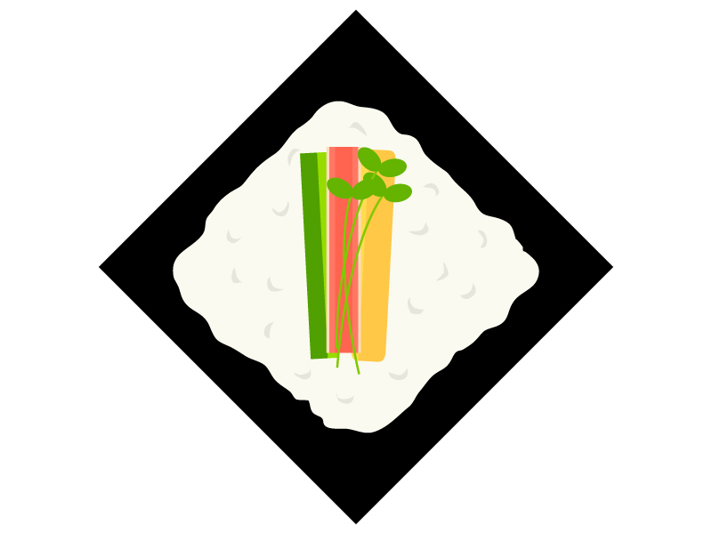 手巻き寿司のイラスト02