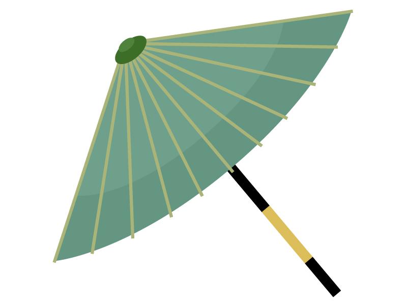 番傘のイラスト02