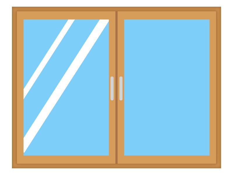 ガラス窓・サッシのイラスト