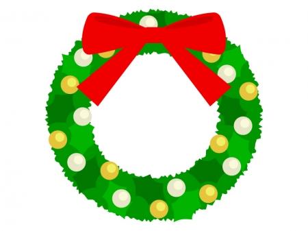 クリスマスリースのイラスト02