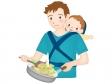 クッキング・料理をするイクメンのイラスト