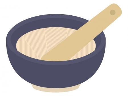 すり鉢とすりこぎ棒のイラスト02