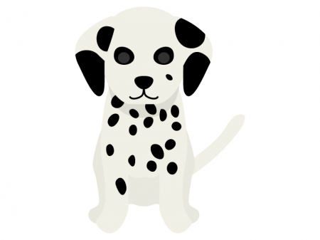 ダルメシアンの子犬のイラスト