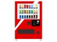 ジュースの自動販売機のイラスト
