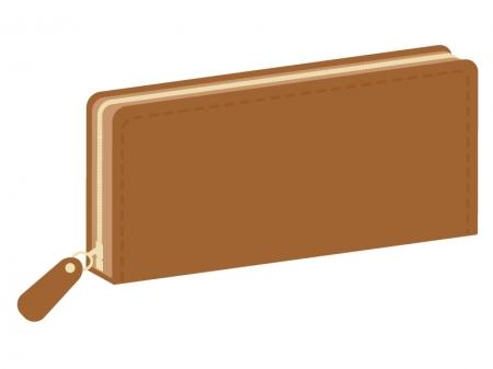 長財布のイラスト