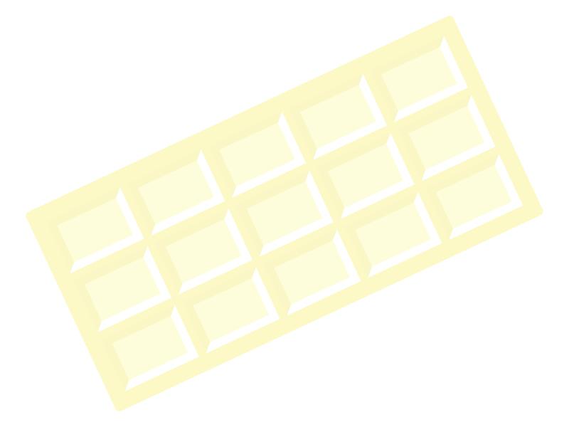 板チョコ(ホワイトチョコ)のイラスト
