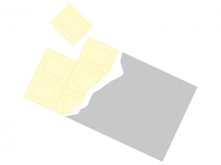 板チョコ(ホワイトチョコ)のイラスト02