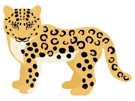 豹(ヒョウ)のイラスト