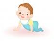 はいはいをする赤ちゃんのイラスト