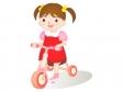 三輪車をこぐ幼児のイラスト