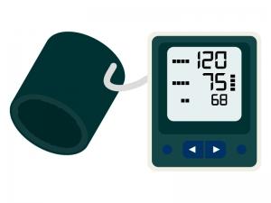 デジタルの血圧計のイラスト