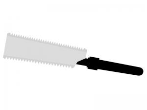 両刃のこぎりのイラスト02