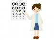 視力検査をしているシーンのイラスト