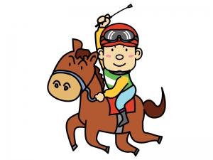 競馬・騎手と馬のイラスト