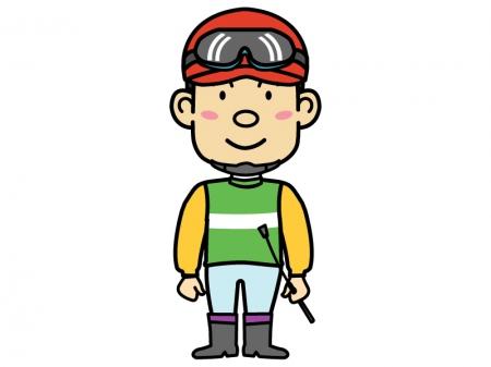 競馬・騎手(ジョッキー)のイラスト