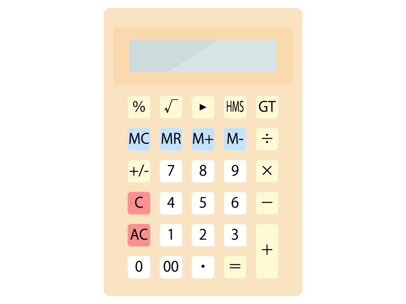 計算機(電卓)のイラスト03