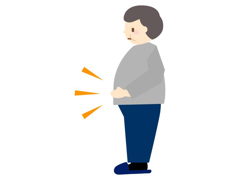 肥満・メタボ(男性)のイラスト