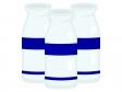 3つ並んだ牛乳瓶のイラスト