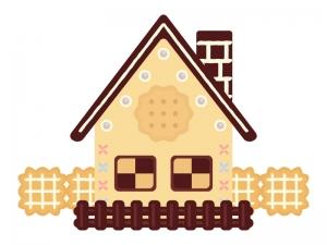 お菓子の家のイラスト