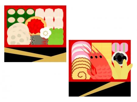 おせち料理のイラスト02