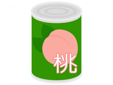 桃の缶詰のイラスト