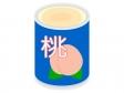 桃の缶詰のイラスト02