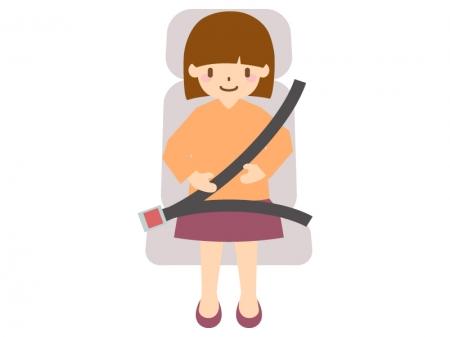 シートベルト着用のイラスト
