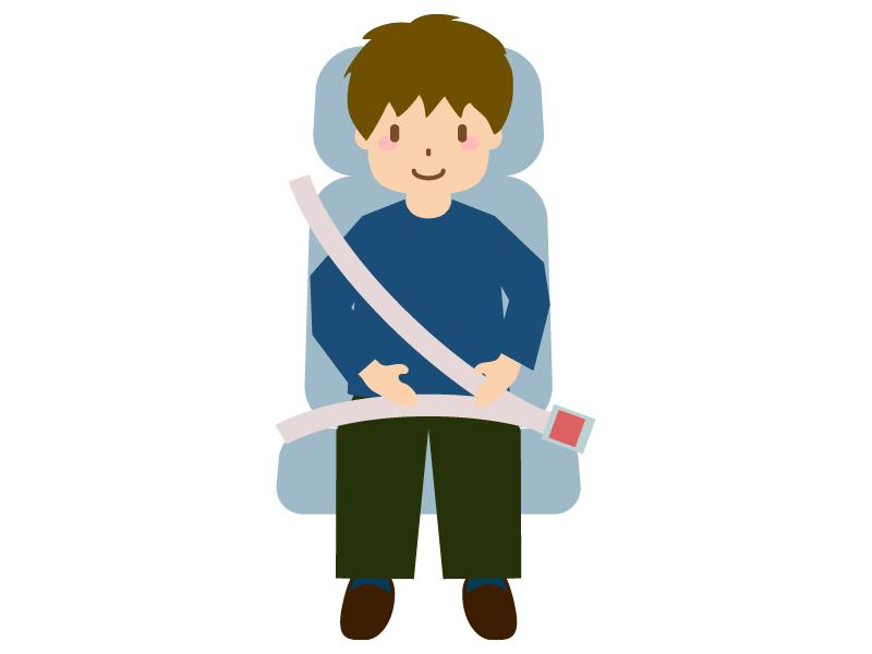 シートベルト着用のイラスト02