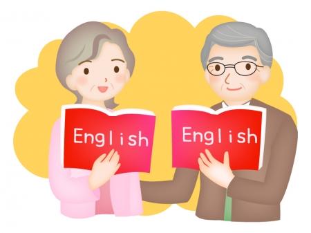 シニア向けの英会話のイラスト