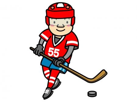アイスホッケーの選手のイラスト