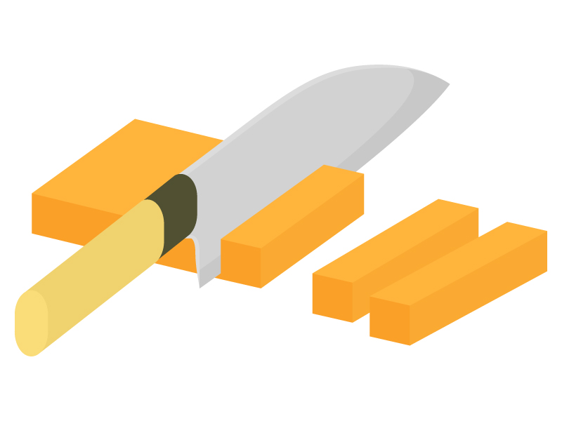 野菜の切り方・拍子切りのイラスト