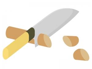 野菜の切り方・乱切りのイラスト